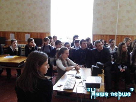 Зустріч адміністрації школи з учнівським активом.